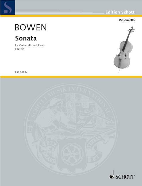 Sonata Op. 64 Bowen, Bowen, Bowen, York violonchelo y piano 9790001146593 072588